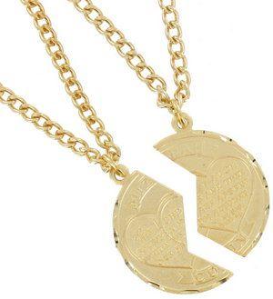 New Mizpah Coin Pendant Necklace Best Friends Genesis Fancy Cut Gold