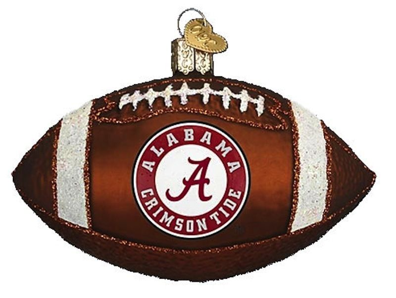 University of Alabama Crimson Tide College Football Glass Christmas