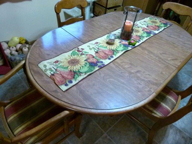 Ethan Allen ROUND OVAL Kitchen Dining Room Table W/ Pedestal Base Set