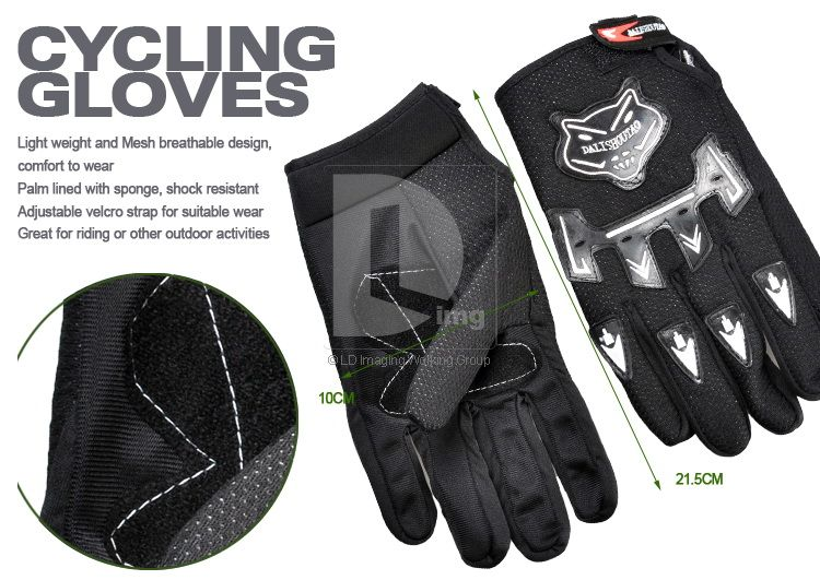 New Full Finger Bicycle Bike Cycling Mountain Gloves Shock resistant