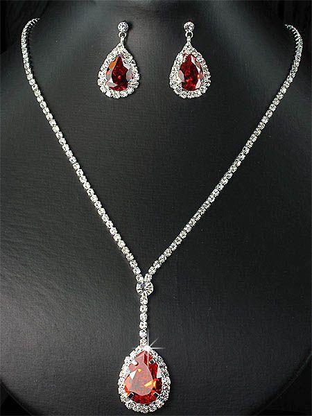 Wedding Party Bridal Bridesmaids Diamante Crystal Necklace Earrings