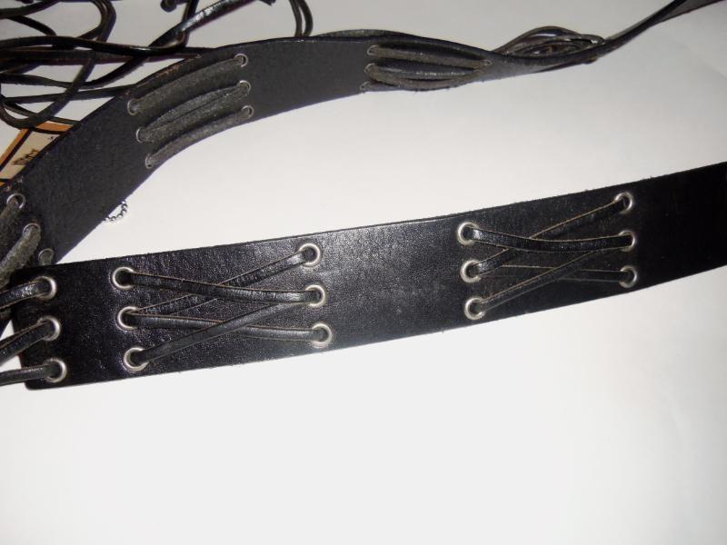 Womens NWT Harley Davidson Black Leather Cross Sitch Belt Sz L