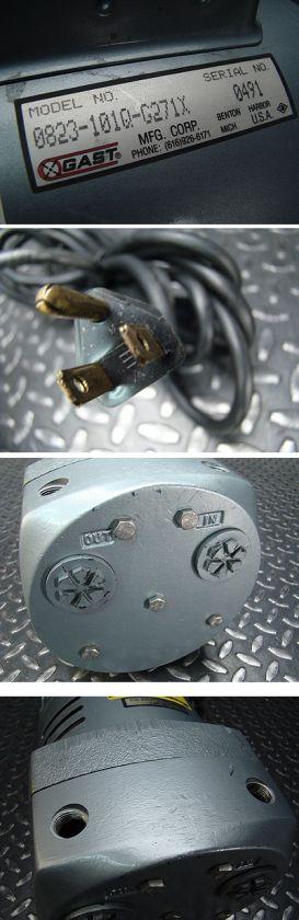Gast Rotary Vane Vacuum Pump 0823 101Q G271X 1/2 HP